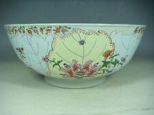 superb chinese porcelain export tobacco leaf of bowl