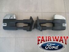 15 thru 17 F-150 OEM Ford Chrome Power Signal Heat Fold Trailer Tow Mirrors PAIR