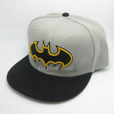 New DC Comics Grey Black Kids Children Snapback Batman Hat cap flat baseball