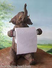 Elefant als Toilettenpapier Halter 34cm stehend Deko Figur Bad Deco Baddeko