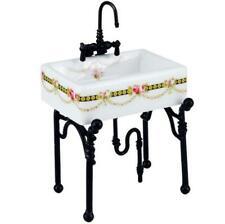 Dollhouse Small Victorian Rose Kitchen Sink Reutter 1.740/3 Miniature 2018