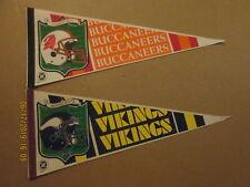 NFL Tampa Bay Buccaneers & Minnesota Vikings Vintage Central Division Pennants