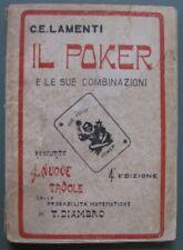 Il Poker e le sue combinazioni. Milano, Ed. Corticelli, circa 1920