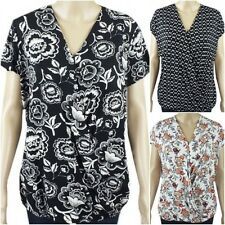 NEW Ex George Ladies Jersey Cross over Casual Summer Top Size 8 - 24