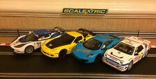 Scalextric RS200 / Mclaren MP4-12c / Corvette C6R / Lotus Evora Brand New