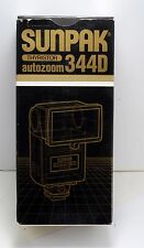 NEW SUNPAK 344D AUTO ZOOM DEDICATED FLASH FOR PENTAX CAMERAS  NEW IN BOX MANUAL