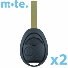 2 x BMW MINI Cooper Remote Key Shell For R53 R50 Case Replacement/Housing/Fob