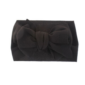 Lovely Baby Cotton Big Bow Tie Head Wrap Turban Top Knot Headband Newborn Girl