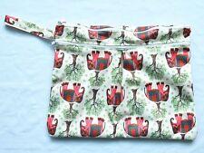 Wet Dry Travel Bag Clutch,Creams,Mama Cloth Menstrual Pad, Diaper Nappy,Elephant