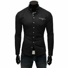 Camisas y polos de hombre de manga larga en negro talla L