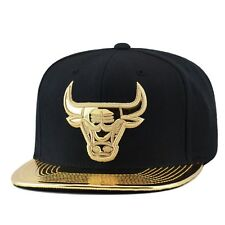 Mitchell & Ness Chicago Bulls Snapback BLACK/GOLD FOIL for foamposite pro
