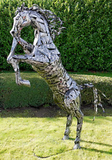 spanisches Pferd pulverbeschichtet oder Rost Wandbild Andalusier Spanier P.R.E