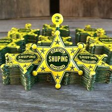 200 BULK WHOLESALE 1932 Official SHUPING SUPPORTER CAMPAIGN BADGE Sheriff Star