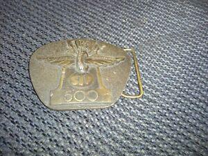 Vintage STP indianapolis 500 Belt Buckle 1978 comemorative buckle Indiana metal