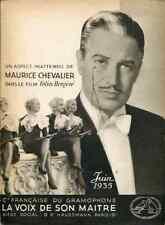 MUSIQUE CATALOGUE DISQUES LA VOIX DE SON MAÎTRE JUIN 1935 Maurice CHEVALIER