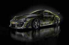 Incorniciato stampa-PORSCHE 911 TURBO SUPERCAR (foto poster arte AUTO FERRARI AUDI)
