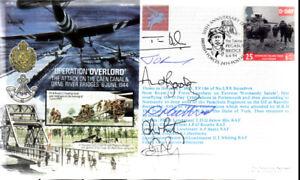 AF14b WWII D DAY Pegasus Bridge BFPS first day cover signed RAF crew