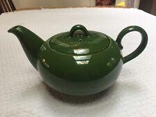 Homer Laughlin Dura-Print Charm House Forest Green Teapot! Looks Unused