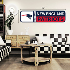 New England Patriots 90x23 Team Repositional Wall Decal Design 56
