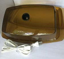 Retro Hot Plate Electric Cornwall Server Party Platter Lidded Vtg Amber #2615