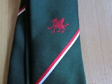 Unidentified Red DRAGON Motif Possibly CRICKET or Sporting Interest Tie
