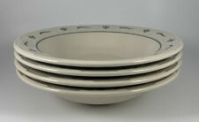 4 Longaberger Woven Traditions Heritage Green Individual Pasta Bowls