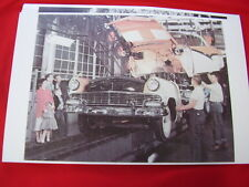 1956 FORD  CONVERTIBLE ON  ASSEMBLY LINE  IN COLOR!  11 X 17  PHOTO   PICTURE