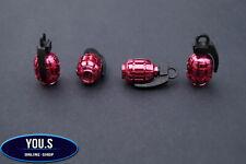 4 Stück Pink Granate Handgranate Ventilkappen PKW LKW Motorrad - BMW Audi ...