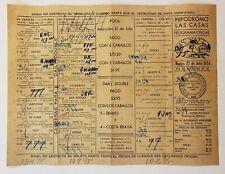 VINTAGE HORSE RACING PROGRAM / HIPODROMO LAS CASAS / PUERTO RICO 1954 RARE #5
