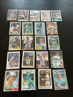 Robin Yount 21 Card Lot 86 Fleer 81 Donruss + More Milwaukee Brewers HOF Box1