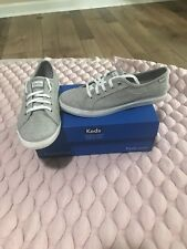 KEDS MADE IN THE USA Coursa Jersey Sneakers Sz 6.5 Gray NIB