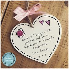 Personalised Mentor/Teacher/Midwife/Tutor Plaque Gift Sign Thank You Support