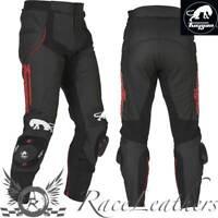 Furygan Raptor Noir Cuir Rouge Moto Moto Sports pour Pantalon Moto