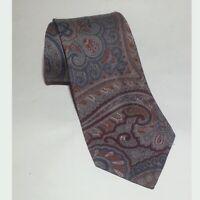 "Men 100% Pure Wool Paisley Print Necktie 58"" long 3"" wide Made in Germany Tie"