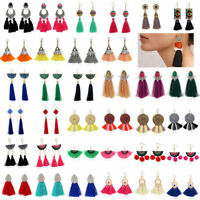 Fashion Bohemian Jewelry Elegant Tassels Earrings Long Hook Drop Dangle Women