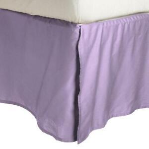 KING Superior Wrinkle Resistant Microfiber 15-inch Drop Bedskirt Plum 1500 serie