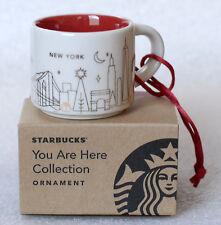 STARBUCKS 2014 NEW YORK 2014 You Are Here ORNAMENT NIB ceramic