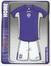 147 HOME KIT ENGLAND LEICESTER CITY.FC STICKER FL CHAMPIONSHIP 2010 PANINI
