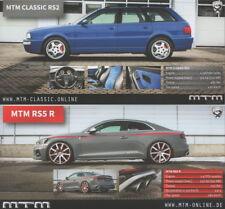 MTM AUDI rs5 R, rs3 R & Classic r32 Prospectus/Brochures _ Genève/geneva 2018