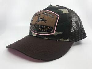 JOHN DEERE BROWN / PINK CAMO LADIES TRUCKER CAP CPLP67034