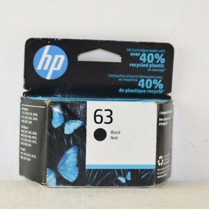 HP 63 F6U62AN Option 140 Black Ink Cartridge Exp 01/2023 Printer Ink Replacement