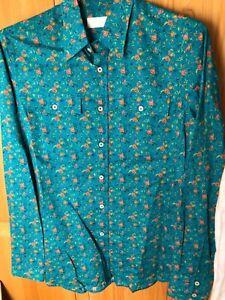 Prada Herren Hemd Blumen Muster