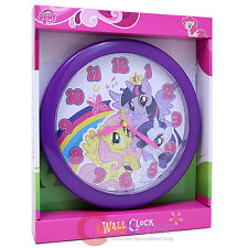 """My Little Pony Round Wall Clock 9.5"""" Watch with Twilight  Rarity Fluttershy"""