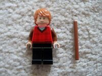 LEGO Harry Potter - Rare Ron Weasley Minifig w/ Wand - From 4841 - Excellent
