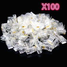 100x RJ45 CAT6 Cable De Red Lan final Crimp Plug Conectores Pines Dorados comprar a granel