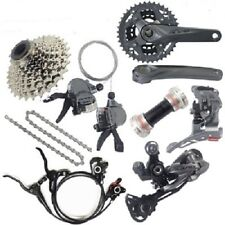 New SHIMANO ALIVIO M4000 3x9/27 Speed MTB Groupset W/M447 Disc Brake Set 8 Pcs
