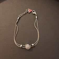 Guess Designer Bracelet With Diamante Heart Charm - Used