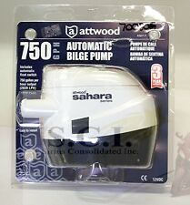 ATTWOOD SAHARA SERIES Automatic Bilge Pump 750 GPH  2839 LPH