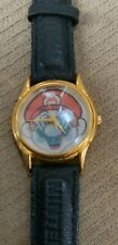 NINTENDO '64 SUPER MARIO LEATHER BAND 1996 HOLOGRAM WATCH - NEVER USED!
