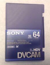 SONY DVCAM PDV-64N 64 Digital Video Cassette Tapes Lot of 9 NEW